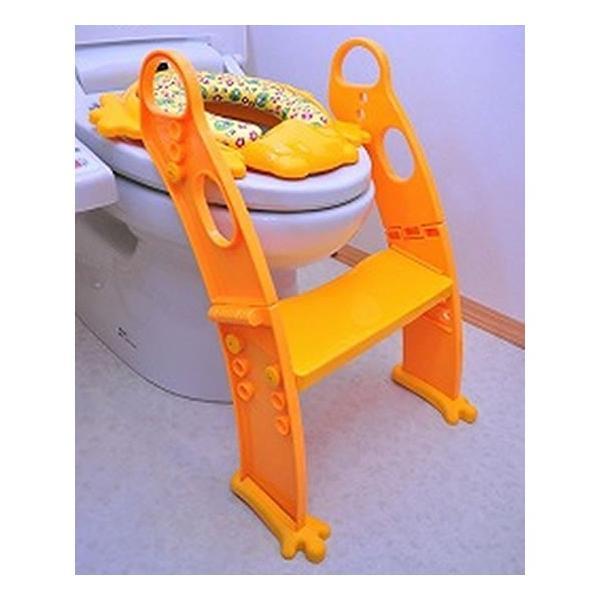 おまる 補助便座 リトルプリンセス かえるのふかふか ステップ式トイレトレーナー ベビー 赤ちゃん baby 1歳|kamoshikanet|04