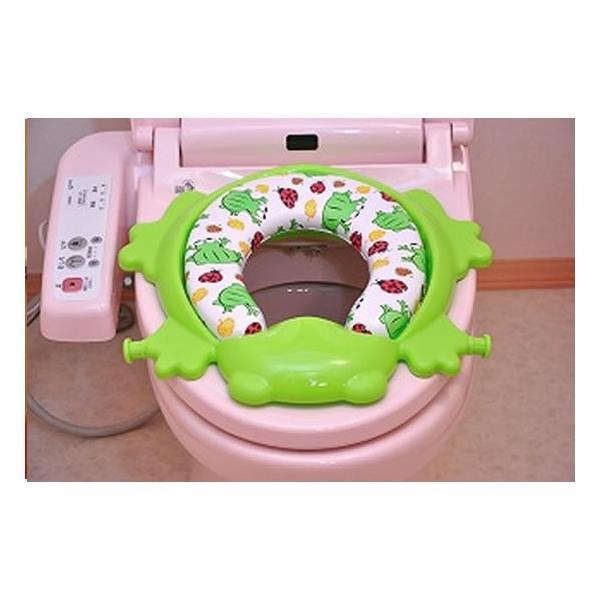 おまる 補助便座 リトルプリンセス かえるのふかふか ステップ式トイレトレーナー ベビー 赤ちゃん baby 1歳|kamoshikanet|05