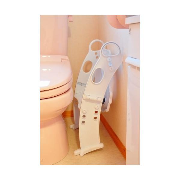 おまる 補助便座 リトルプリンセス かえるのふかふか ステップ式トイレトレーナー ベビー 赤ちゃん baby 1歳|kamoshikanet|08