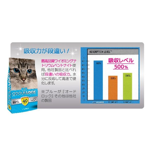 ペット用品 生き物 猫砂 猫用トイレ用品 ラブリー Lovely ネコ砂 オードロック 6kg kamoshikanet 05