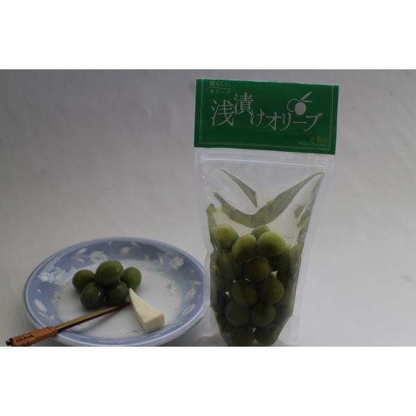 浅漬けオリーブ(グリーン) 袋詰100g kanabe-olive 02