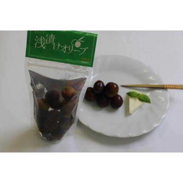 浅漬けオリーブ(完熟) 袋詰100g kanabe-olive