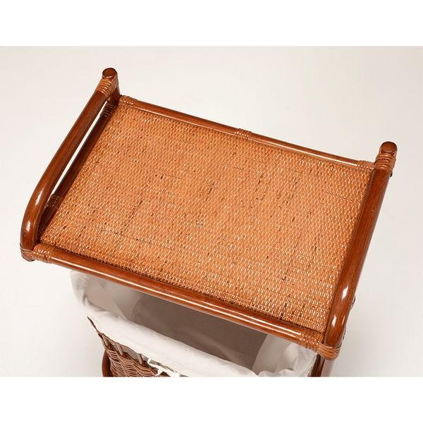 ランドリーバスケット ラック 洗濯物入れカゴ かご付き 籐製 ラタン製家具 キャスター付き|kanaemina|03