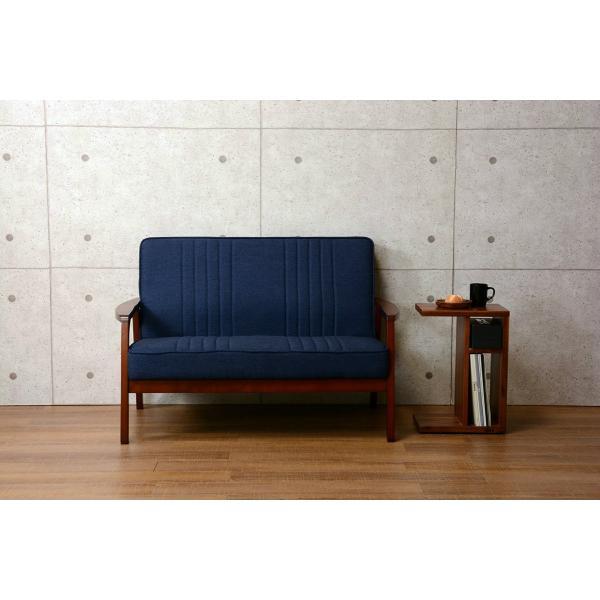 2人掛けソファ 二人掛け コンパクトソファー アカシア材 天然木製 ファブリック生地|kanaemina|04