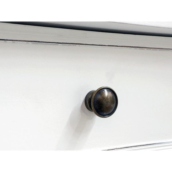 ライティングデスク 文机 引出し収納付き 幅100cm ホワイトアンティーク仕上げ シャビーテイスト 白家具 デュエット|kanaemina|08