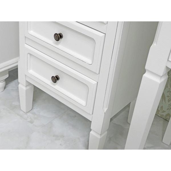 3段チェスト 小物収納チェスト 幅43cm ホワイトアンティーク仕上げ シャビーテイスト 白家具 デュエット|kanaemina|05