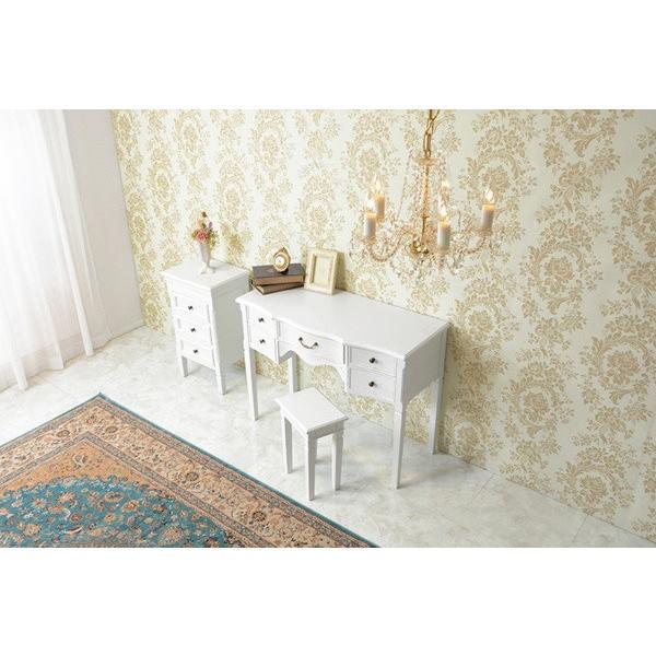 3段チェスト 小物収納チェスト 幅43cm ホワイトアンティーク仕上げ シャビーテイスト 白家具 デュエット|kanaemina|09