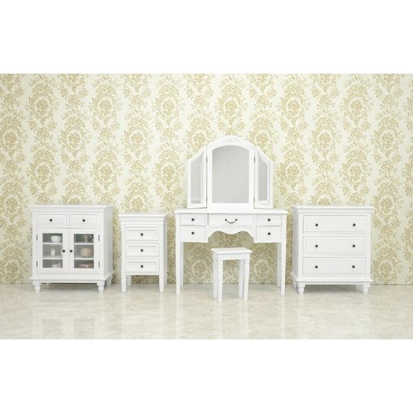 3段チェスト 小物収納チェスト 幅43cm ホワイトアンティーク仕上げ シャビーテイスト 白家具 デュエット|kanaemina|10