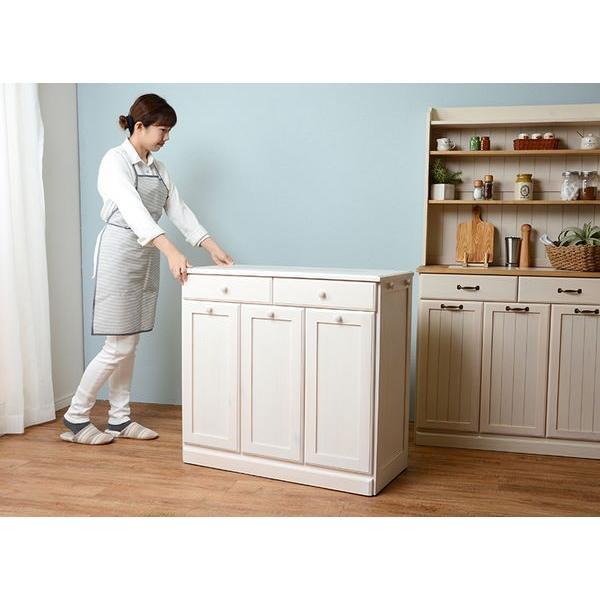 分別ペールカウンター 3分別ダストボックス 25リットル キッチン用ゴミ箱 幅87cm 高さ81cm|kanaemina|03