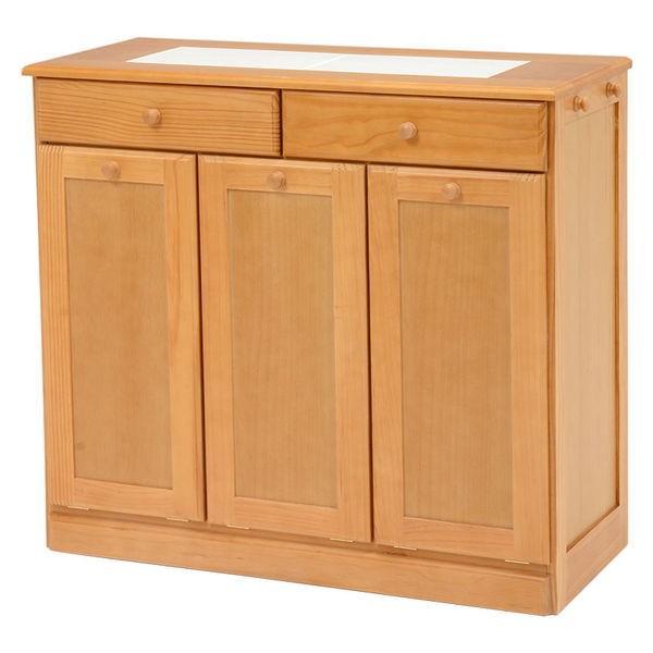 分別ペールカウンター 3分別ダストボックス 25リットル キッチン用ゴミ箱 幅87cm 高さ81cm|kanaemina|10