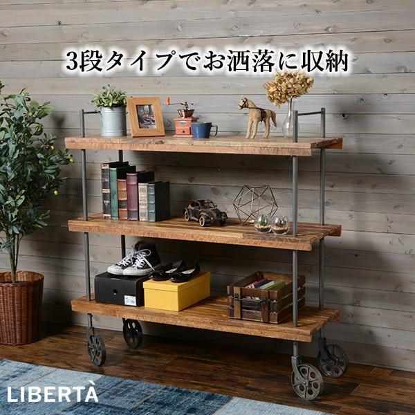 オープンラック 収納棚 ディスプレイラック スチール 天然木製 車輪キャスター付き|kanaemina