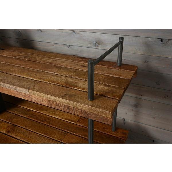 オープンラック 収納棚 ディスプレイラック スチール 天然木製 車輪キャスター付き|kanaemina|02