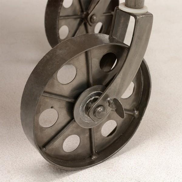 オープンラック 収納棚 ディスプレイラック スチール 天然木製 車輪キャスター付き|kanaemina|06