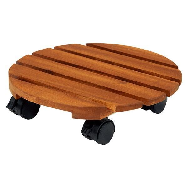 鉢置き台 木製 キャスター付き 6点セット 天然木 アカシア材 キャスター付きプランターラック