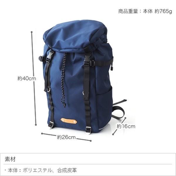 フラップ バックパック リュック 撥水 背面 ファスナー/ポケット付き バッグ|kanaemina|06