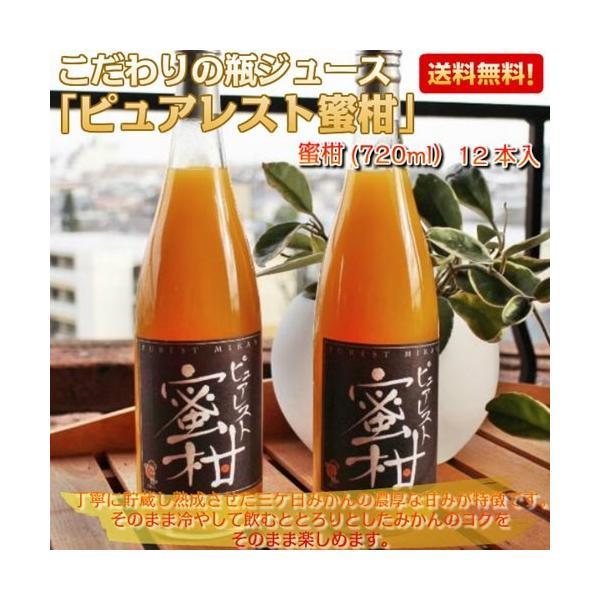 三ヶ日みかんジュース ストレート 果汁100% フルーツジュース 果物ドリンク 720ml×12本入|kanaemina