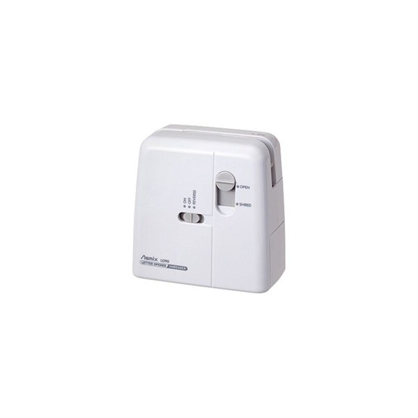 レターオープナー 電動 シュレッダー機能付き シュレップナー ホワイト