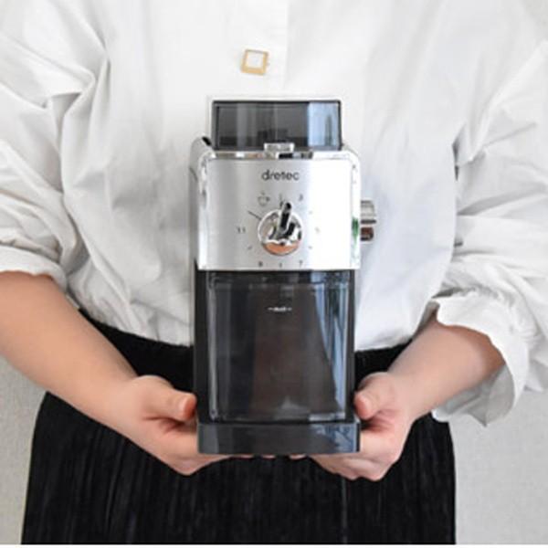 電動コーヒーミル コーヒーグラインダー 自動 臼式 16段階調整 細挽き 粗挽き 2杯〜12杯まで対応|kanaemina|08