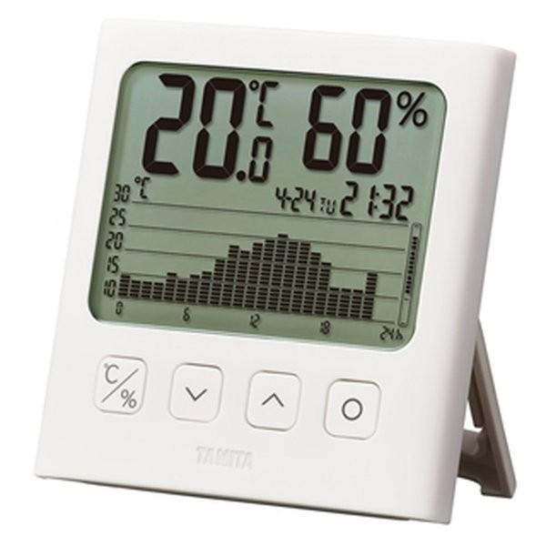 温湿度計 温度計 湿度計 タニタ グラフ付き デジタルサーモ 1日の温度変化グラフ