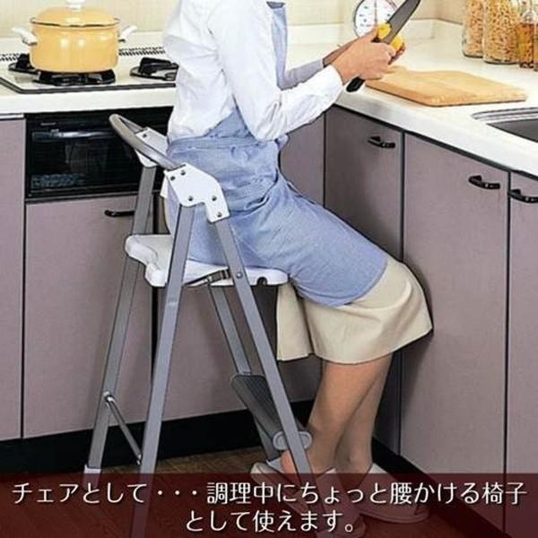 踏み台 ステップ台 ステップアップチェア 脚立 折りたたみ椅子 イス 日本製|kanaemina|02
