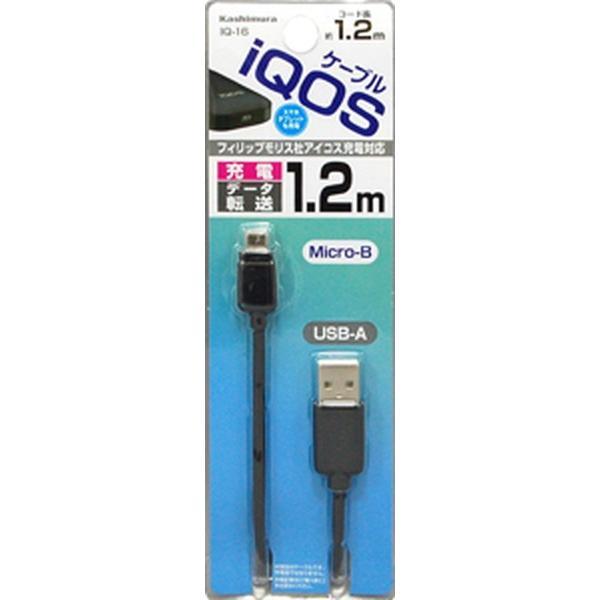 アイコス充電器 スマホ タブレット iQOS USB充電 同期ケーブル 1.2m microUSB|kanaemina|02