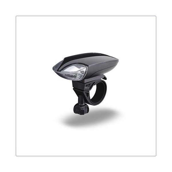自転車用ヘッドライト LED バイクライト ジェントス 120lm 防滴 ブラック|kanaemina