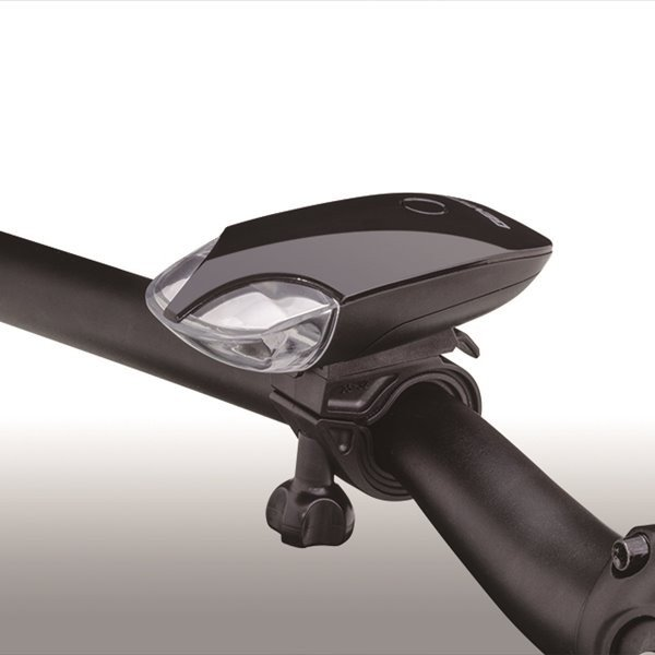 自転車用ヘッドライト LED バイクライト ジェントス 120lm 防滴 ブラック|kanaemina|02
