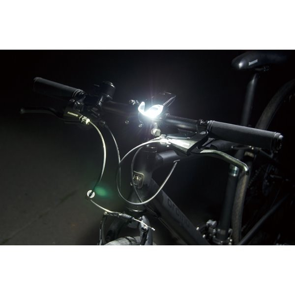 自転車用ヘッドライト LED バイクライト ジェントス 120lm 防滴 ブラック|kanaemina|03