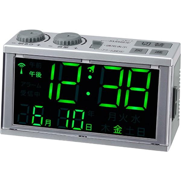 置き時計 目覚まし時計 電波時計 大きい文字 見やすい デジタル おしゃれ シンプル簡単|kanaemina|02