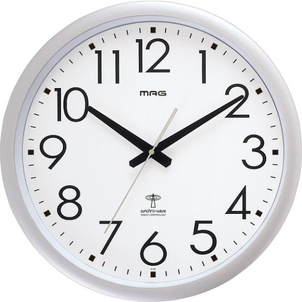 壁掛け時計 大きい 大型 電波時計 シンプル かけ時計 ウォールクロック 特大 ビッグ 直径42cm|kanaemina