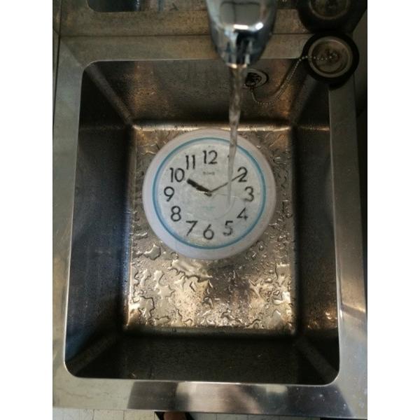 バスクロック お風呂用壁掛け時計 お風呂の時計 防水時計 浴室 バスルーム ホワイト|kanaemina|08
