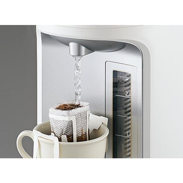 電気ポット 電動給湯ポット 象印 優湯生 マイコン沸騰 魔法瓶保温 コードレス給湯機能付き 2.2L ホワイト|kanaemina|03