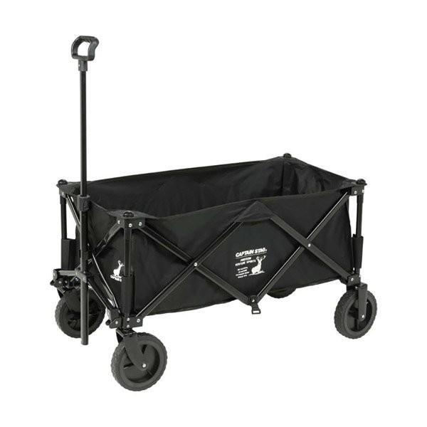 キャリーワゴン キャリーカート 耐荷重80kg 4輪 アウトドア 収束型 折りたたみ式 頑丈 コンパクト