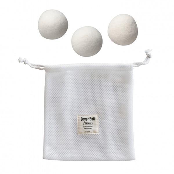 洗濯乾燥機 節電時短アイテム ふんわり ドライヤーボール 3個入 ウールボール 洗濯 乾燥 便利グッズ