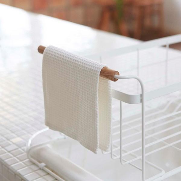 伸縮水切りかご 水切りバスケット 食器ラック ドレイナー シンク用 キッチン トスカ 白 ホワイト|kanaemina|02