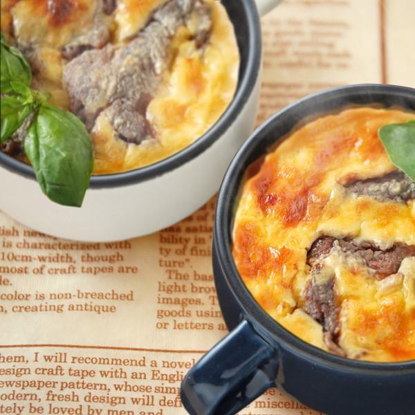 耐熱マグカップ スープカップ 耐熱陶器製 電子レンジ オーブントースター ガスオーブン対応 ネイビー kanaemina