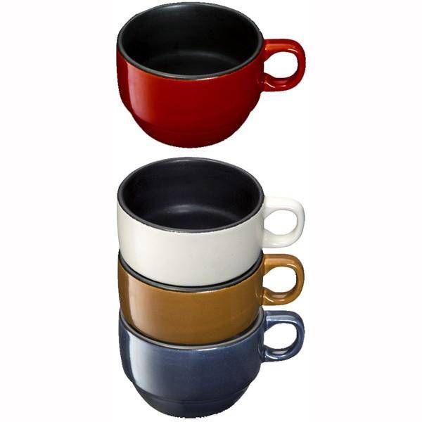 耐熱マグカップ スープカップ 耐熱陶器製 電子レンジ オーブントースター ガスオーブン対応 ネイビー kanaemina 03