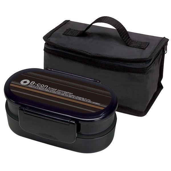 お弁当箱 2段ランチボックス 保冷バッグ付き 箸付き 大盛り 男性用 電子レンジ対応 入れ子式 kanaemina