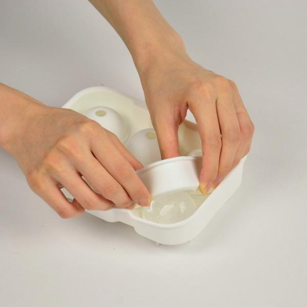 製氷皿製氷器丸い氷を作る容器アイスボール直径約4.5cm6個取りシリコン製アイスモールド丸氷