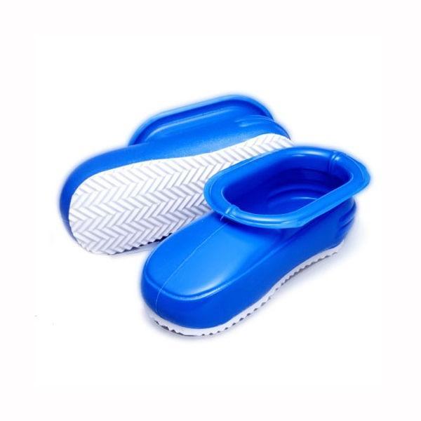 バススリッパ お風呂用ブーツ 浴室シューズ 28cm ブルー 男性用 大きいサイズ 長靴 ビニールサンダル