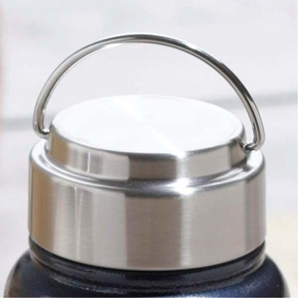 水筒 ステンレスボトル マグボトル 550ml 直飲み 保温 保冷 真空二重断熱 ネイビー ホワイト|kanaemina|02