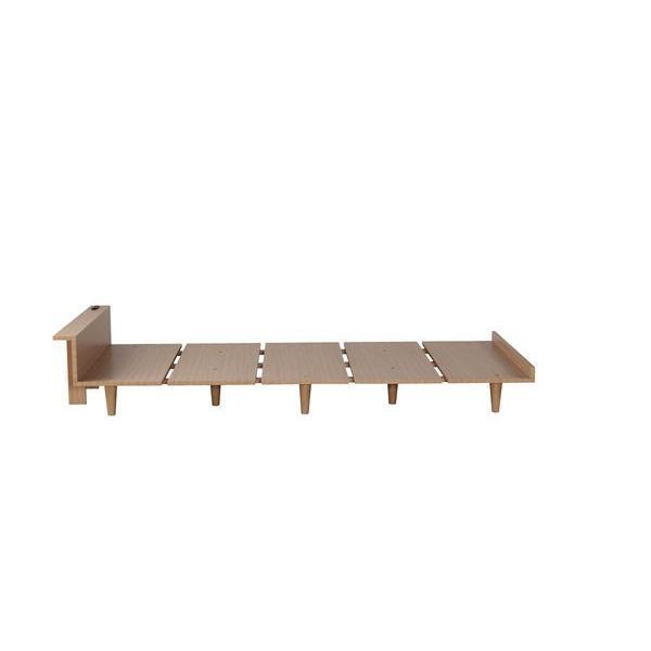 ベッドフレーム セミダブル ローベッド 北欧テイスト 木製 宮棚 2口コンセント付き|kanaemina|12