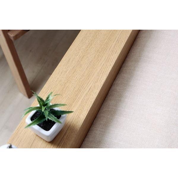 ベッドフレーム セミダブル ローベッド 北欧テイスト 木製 宮棚 2口コンセント付き|kanaemina|05