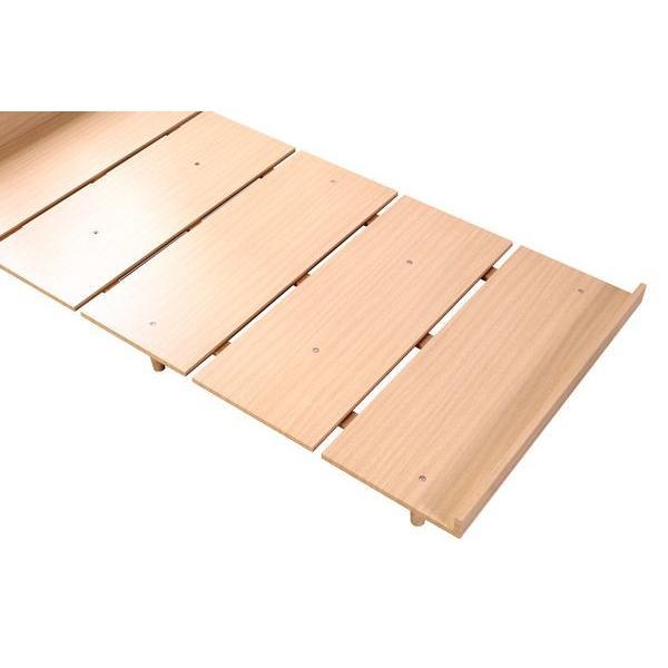 ベッドフレーム セミダブル ローベッド 北欧テイスト 木製 宮棚 2口コンセント付き|kanaemina|08