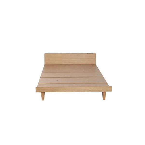 ベッドフレーム セミダブル ローベッド 北欧テイスト 木製 宮棚 2口コンセント付き|kanaemina|10