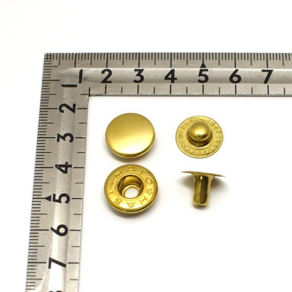 バネホック 特大 ( 8050 ホック ) 真鍮無垢(生地仕上げ) 30組セット | 日本製 金具 レザークラフト 手芸 副資材 クラフト パーツ 手作り ハンドメイド ボタン