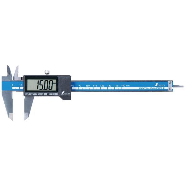 シンワ デジタルノギス 大文字2 品名150mm 製品コード19995 ケース付 外側測定 内側測定 深さ測定 段差測定 大型液晶表示 オートパワーオフ機能付