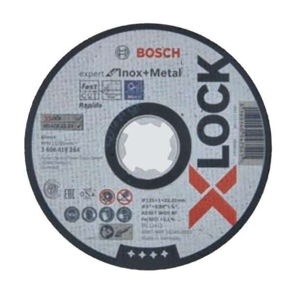 ネコポス可 ボッシュ X-LOCK 切断砥石 1枚入 2 608 619 264 エキスパート 鉄・ステンレス用 2608619264 外径125mm 厚さ1.0mm 最高使用周速度80m/s BOSCH