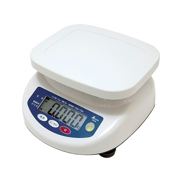 シンワ デジタル上皿はかり 15kg 取引証明以外用 70106 文字高30mmで大きく見やすい液晶 バックライト機能付