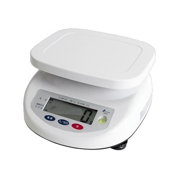 シンワ デジタル上皿はかり 6kg 取引証明用 70192 検定証印付 文字高30mmで大きく見やすい液晶 バックライト機能付